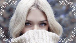 冬での、キレイな女性