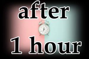 時計と1時間後の文字