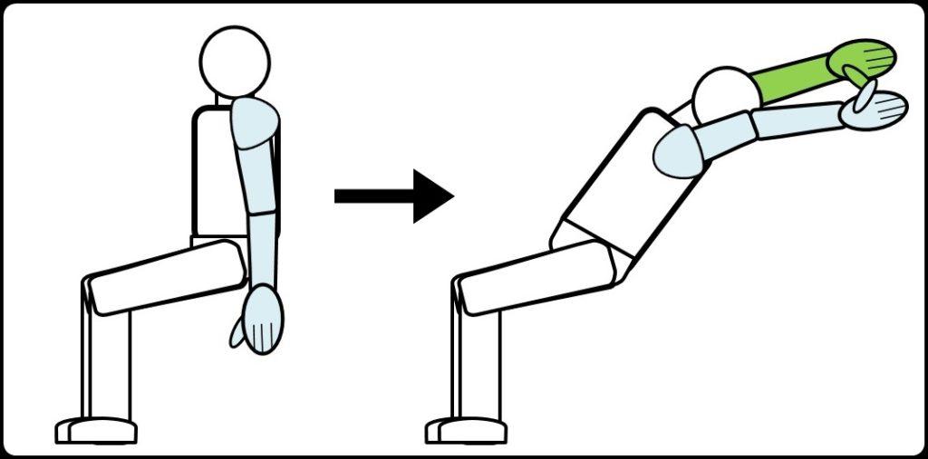背筋を伸ばすストレッチ