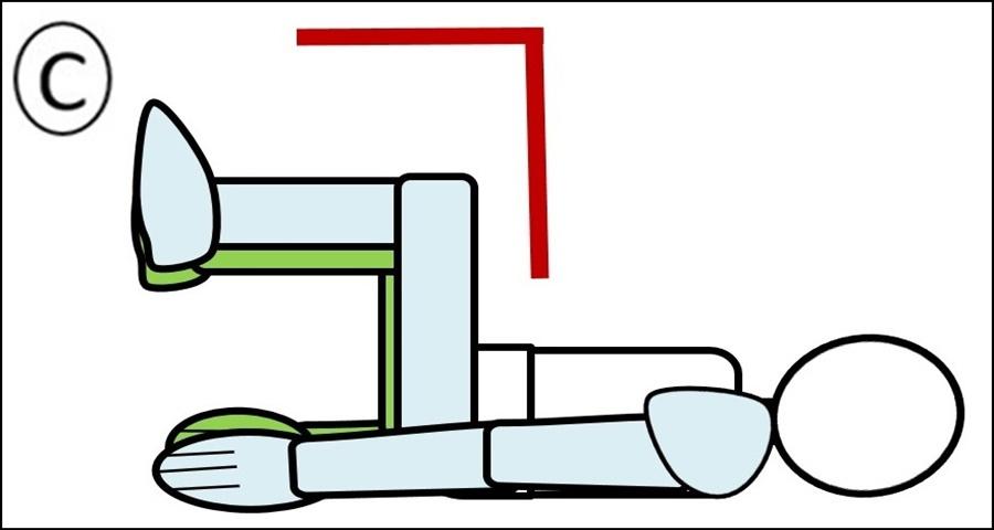 腹筋 ステップ2 足を90度まで引き寄せる