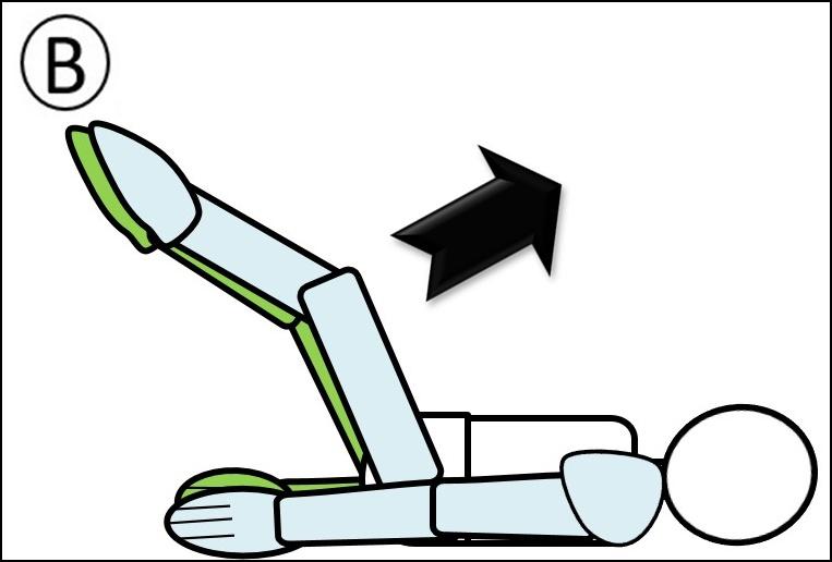腹筋 ステップ3 足を上げ始め