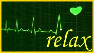 心電図とrelaxの文字