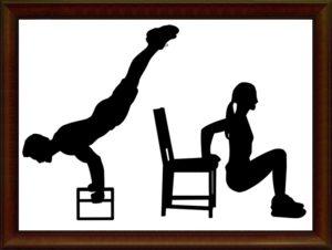 自重トレーニングのシルエット
