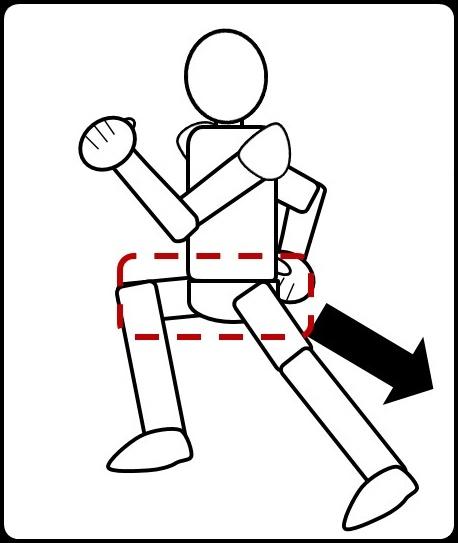 ジョギングで足を蹴ると、こうなる
