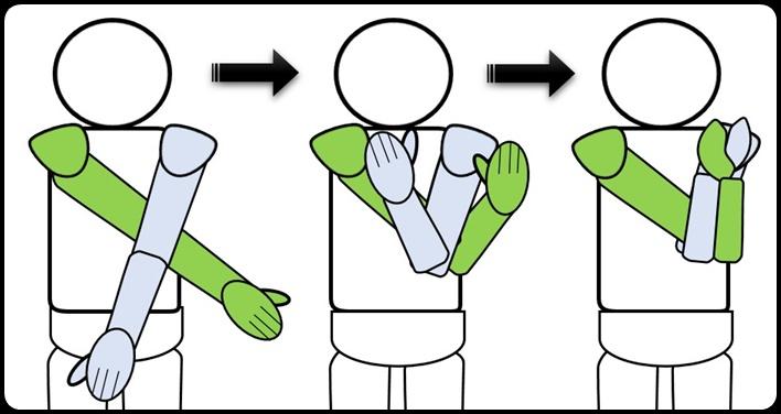 肩甲骨を伸ばす腕のねじり方