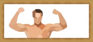 引き締まる筋肉