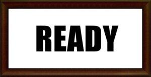 READYの文字