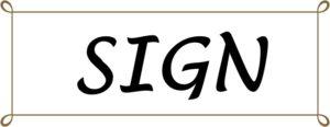 SIGNの文字