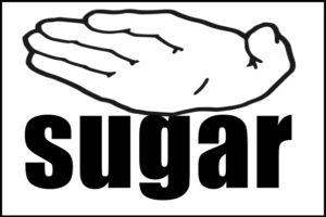 sugarを抑える手