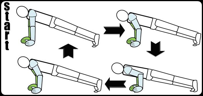 プリズナートレーニング 腕立て伏せ ステップ4