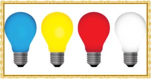 4個の電球