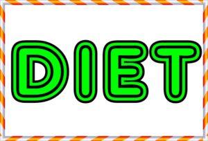 DIETの文字