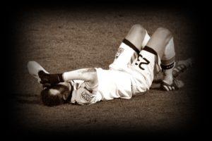 サッカー選手のケガ