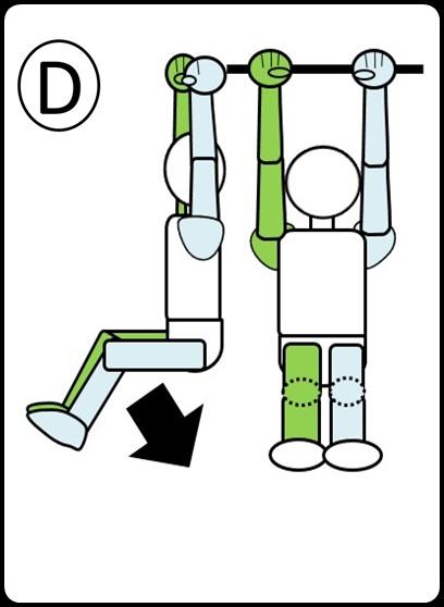 腹筋 ステップ7 足を下ろしているとき