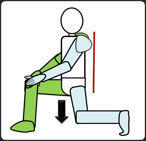 股関節 腰を落とす