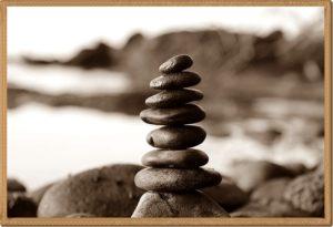 バランスが取られている石