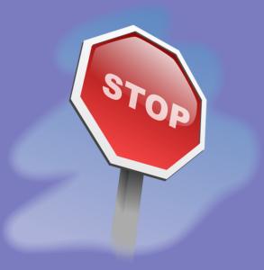 STOPのサイン