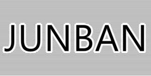 JUNBANの文字