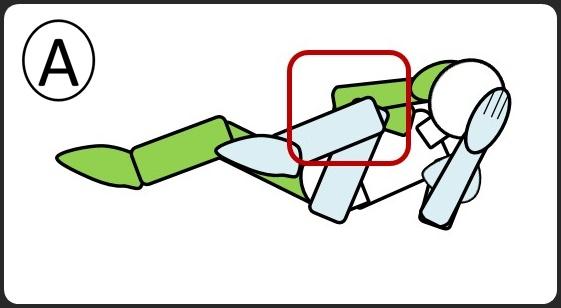 腹筋 ひじとひざをつける スタート