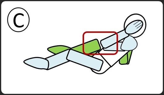 腹筋 ひじとひざをつける 逆のひじとひざをつける