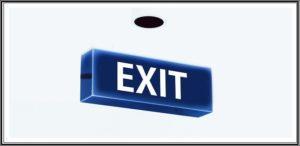 EXITの文字
