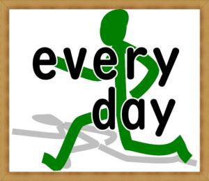走る人 every dayの文字