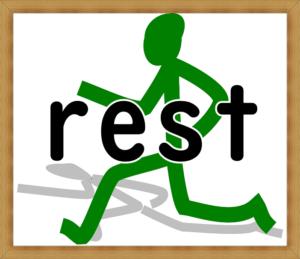 走る人 restの文字