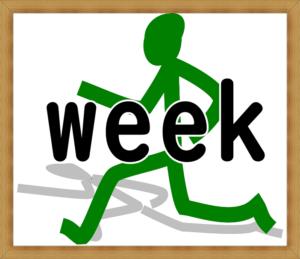 走る人 weekの文字