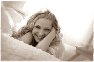 女性の笑顔