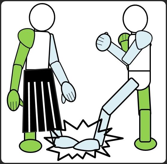 合気道vsボクシングの出足を止める攻撃