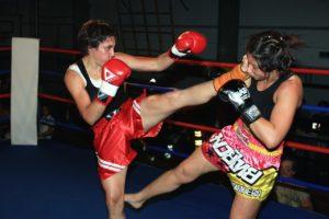 女性のキックボクシング