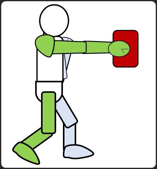 ボクシングのミット打ち
