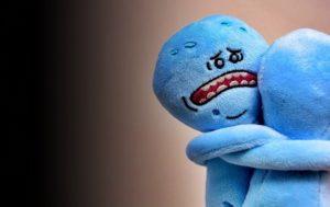 人形が別れを言っているところ