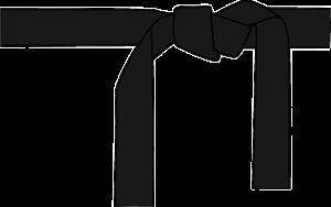 空手の黒帯
