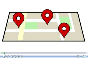 マップでたくさんある場所