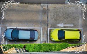 車2台の駐車