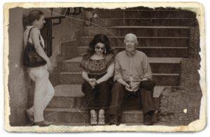 老人の写真