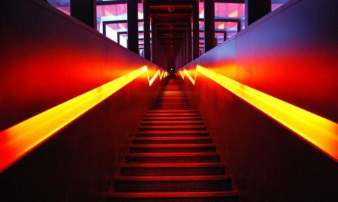 階段の光っているところ