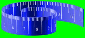 青メジャーのテープ