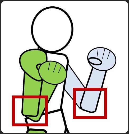 ボクシングの構え コツ 両肘を下ろす