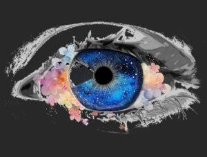 黒バックの目