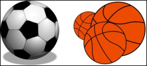サッカーとバスケットボール