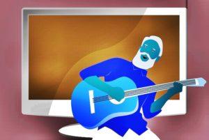 ギターを弾いている人
