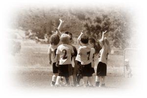 小さな子のサッカーチーム
