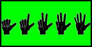 指のカウント