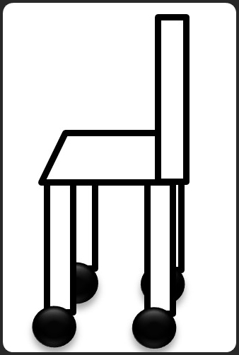 キャスター付きの椅子