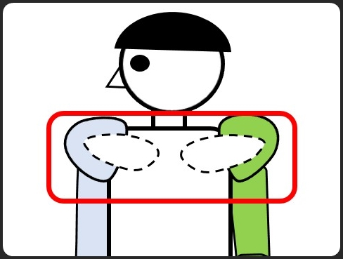 肩甲骨の場所