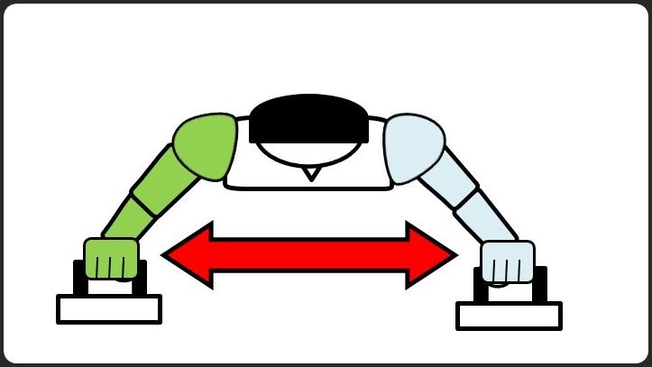 プッシュアップバーの腕立て伏せやり方 腕を広げる方法