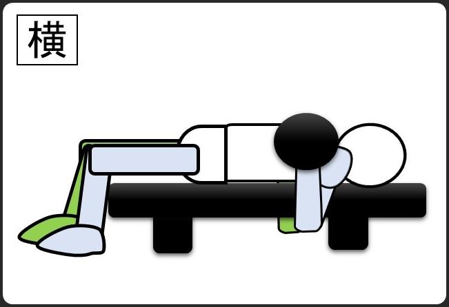 ダンベルベンチプレス 最初 横から見た形