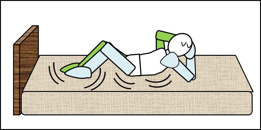 腹筋をベッドでやると負荷が逃げる